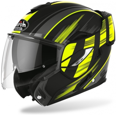 AIROH přilba REV 19 Ikon matt black/fluo yellow