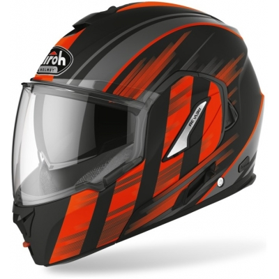 AIROH přilba REV 19 Ikon matt black/fluo orange