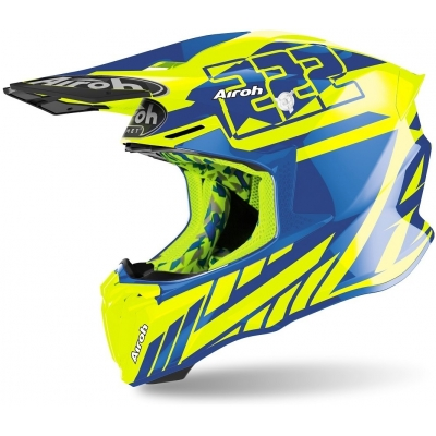 AIROH přilba TWIST 2.0 Replica Cairoli 2020 blue/fluo yellow