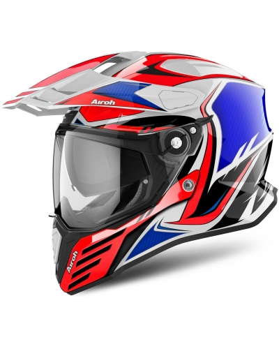 AIROH přilba COMMANDER Carbon red/blue/white