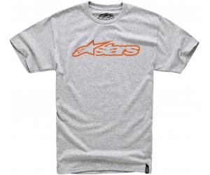ALPINESTARS tričko BLAZE charcoal heather/orange