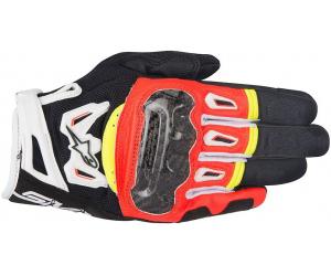 ALPINESTARS rukavice SMX-2 AIR CARBON V2 black/red/white/fluo yellow