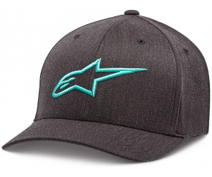 ALPINESTARS kšiltovka AGELESS charcoal heather/turquoise