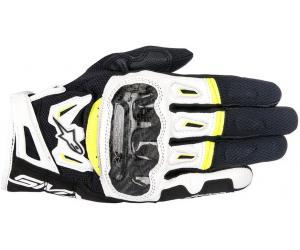 ALPINESTARS rukavice SMX-2 AIR CARBON V2 Black / White / fluo yellow
