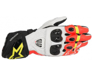 ALPINESTARS rukavice GP PRO R2 Black / White / Red / Yellow fluo