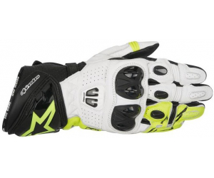 ALPINESTARS rukavice GP PRO R2 black/white/yellow fluo
