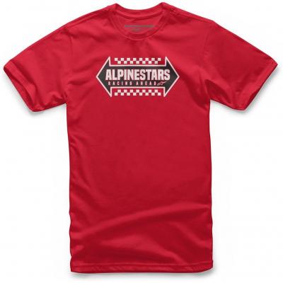 ALPINESTARS tričko OPPOSITE red