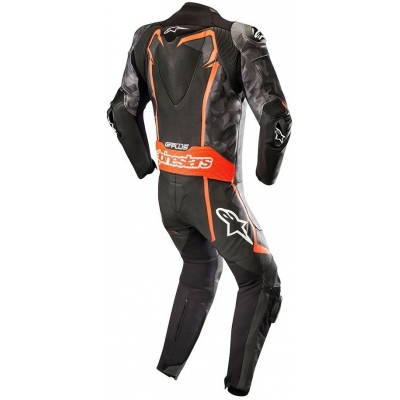 ALPINESTARS kombinéza GP PLUS 1-dielna black/camo/fluo red