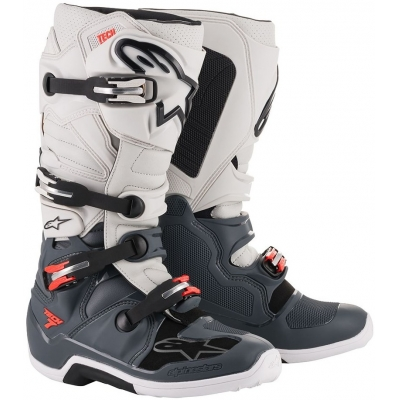 2b023783c159 ALPINESTARS topánky TECH 7 BlackJack grey white fluo red black