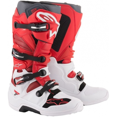 ALPINESTARS boty TECH 7 white/red/burgundy