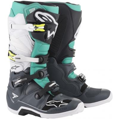 ALPINESTARS topánky TECH 7 dark gray/teal/white