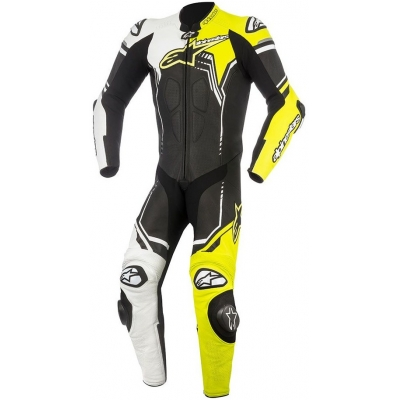AlPINESTARS kombinéza GP PLUS V2 1-dílná black/white/yellow fluo