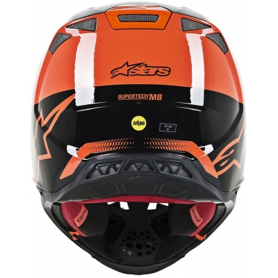 ALPINESTARS přilba SUPERTECH M8 Triple orange/mid grey/black