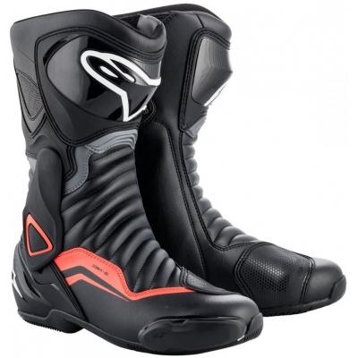 ALPINESTARS topánky SMX-6 v2 black/grey/fluo red