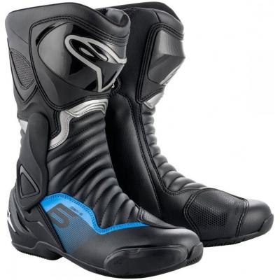 ALPINESTARS boty SMX-6 v2 black/gunmetal/blue
