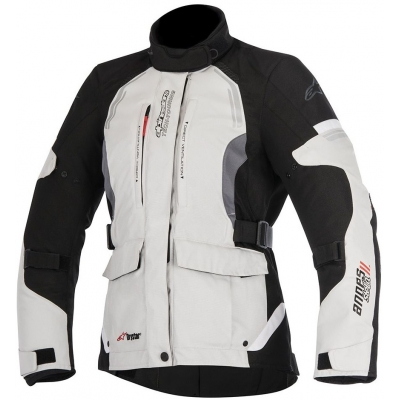 ALPINESTARS bunda ANDES V2 DRYSTAR dámska light grey / black / dark grey