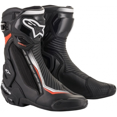 ALPINESTARS boty SMX PLUS V2 black/white/fluo red