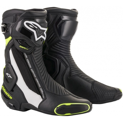 ALPINESTARS boty SMX PLUS V2 black/white/fluo yellow