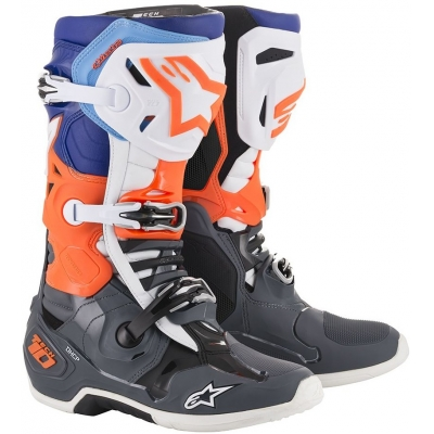 ALPINESTARS topánky TECH 10 2019 grey / fluo orange / blue / white