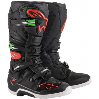ALPINESTARS boty TECH 7 black/red/green