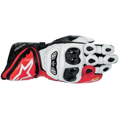 ALPINESTARS rukavice GP TECH white/red/black