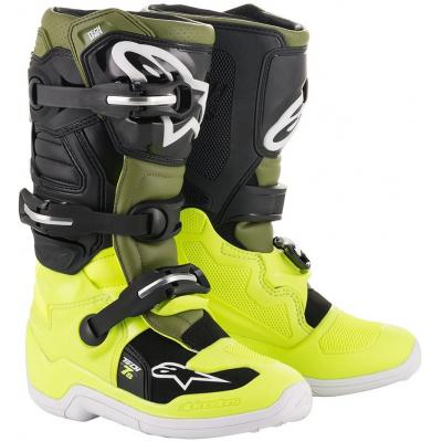 ALPINESTARS boty TECH 7 S dětské yellow fluo/military green/black
