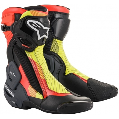 ALPINESTARS boty SMX PLUS V2 black/fluo red/fluo yellow/grey