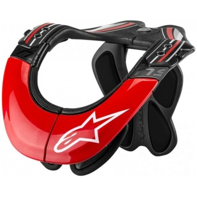 ALPINESTARS chránič krku BNS TECH CARBON antracite/red/wht