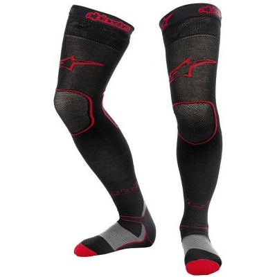 ALPINESTARS nadkolenky LONG MX black/red