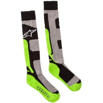 ALPINESTARS podkolenky TECH COOLMAX gray/blk/green