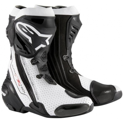 ALPINESTARS boty SUPERTECH R Perforované black/white