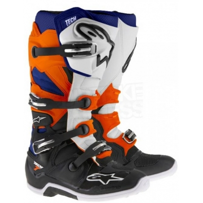 ALPINESTARS boty TECH 7 black/orange/white/blue