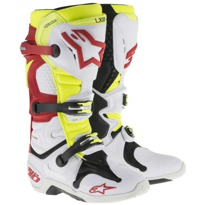 ALPINESTARS boty TECH 10 vented white/red/yellowfluo