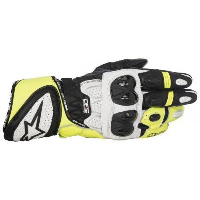 ALPINESTARS rukavice GP PLUS R black/white/yellow fluo
