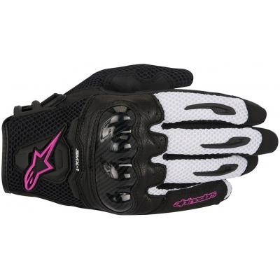 ALPINESTARS rukavice STELLA SMX-1 AIR CARBON dámské black/white/fuchsia