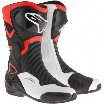 ALPINESTARS topánky SMX-6 v2 black / red fluo / white
