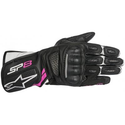 ALPINESTARS rukavice STELLA SP-8 v2 dámské black/white/fuchsia
