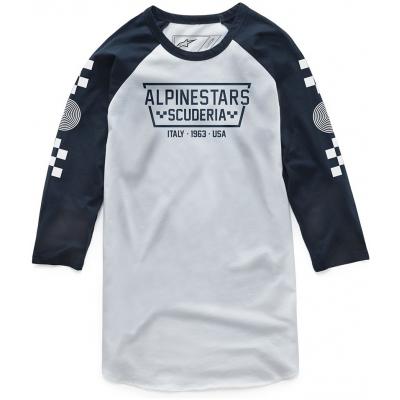 ALPINESTARS tričko IRONSMITH white / navy