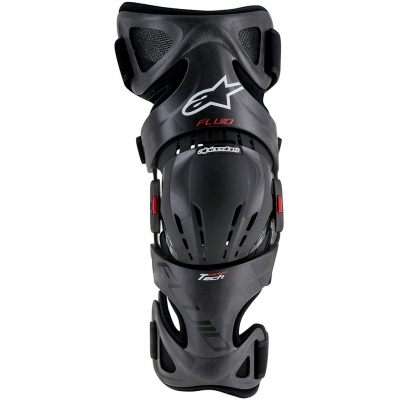 ALPINESTARS ortéza kolene FLUID TECH CARBON anthracite/red/white
