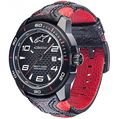ALPINESTARS hodinky TECH 3H leather / black / red