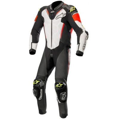 ALPINESTARS kombinéza ATEM V3 1-dielna black / white / red / fluo yellow