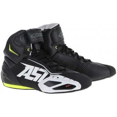 ALPINESTARS boty FASTER - 2 black/white/yellow/fluo red