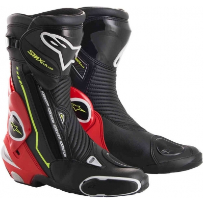 ALPINESTARS boty SMX PLUS LE black/red fluo/white/yellow fluo