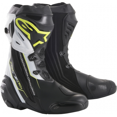 ALPINESTARS boty SUPERTECH R black/fluo yellow/white