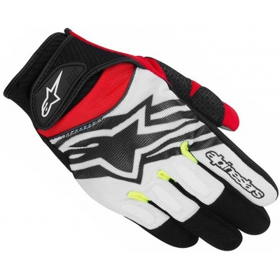 ALPINESTARS rukavice SPARTAN pánske black / white / fluo yellow / red