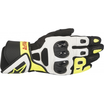 ALPINESTARS rukavice SP AIR Black / White / yellow fluo
