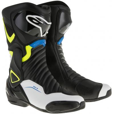 ALPINESTARS topánky SMX-6 v2 Black / White / yellow fluo / blue