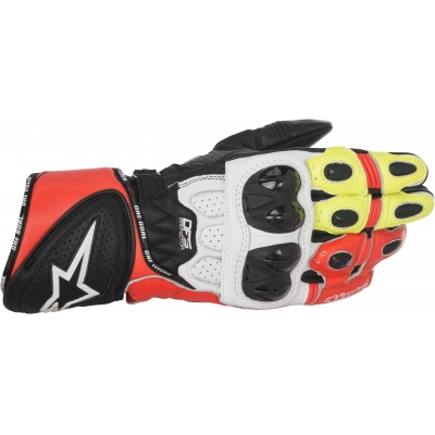 ALPINESTARS rukavice GP PLUS R black/white/red/yellow fluo