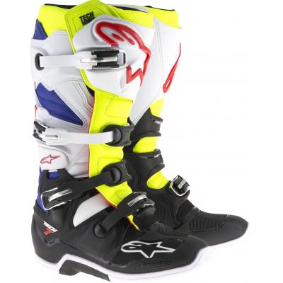 ALPINESTARS topánky TECH 7 white / yellowfluo / blue