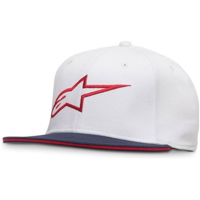 ALPINESTARS kšiltovka AGELESS FLATBILL Flexfit white/red